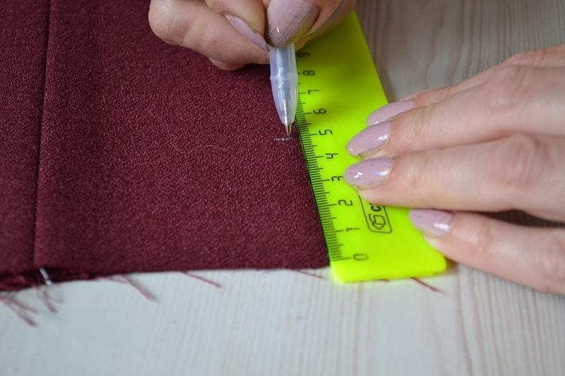 Как сделать разметку подгибки низа мужских брюк