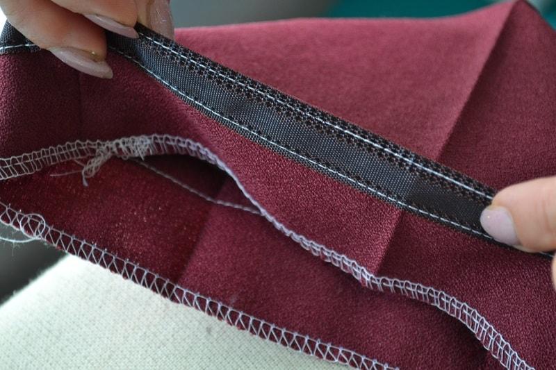 Влажно-тепловая обработка подгибки брюк