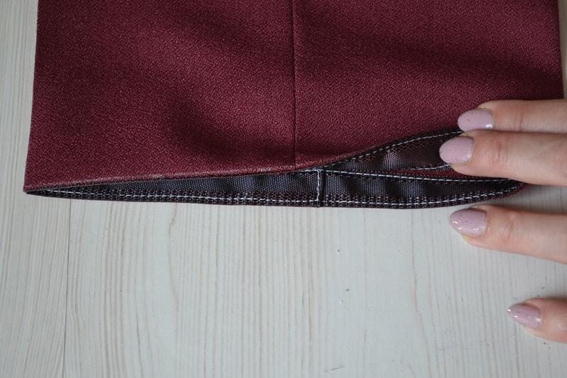 Подгибка брюк после влажно-тепловой обработки